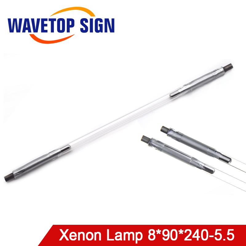 Free Shipping WaveTopSign Laser Xenon Lamp 8*90*240-5.5mm Use For Laser Welding Machine Other Size Also Can Be Making Dia.5.5mm