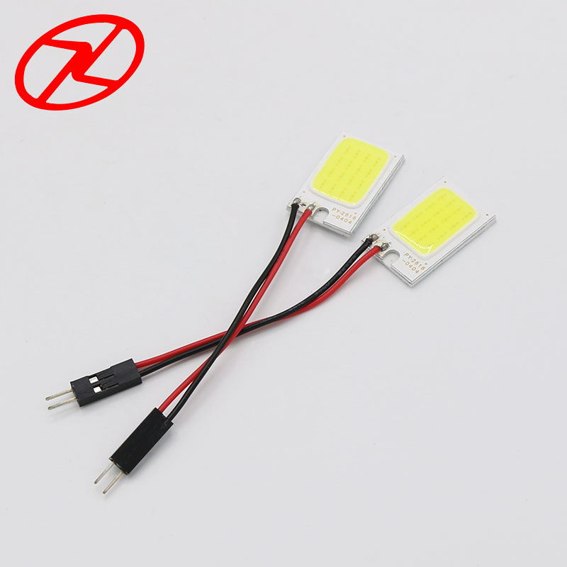 2 stk 26mm * 16mm Cars T10 Festoon ba9s Dome Adapter Panel Light COB - Billygter - Foto 2