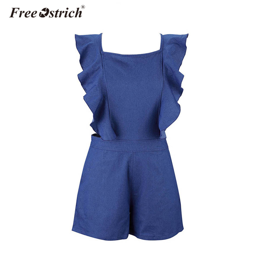 Free Ostrich Women Sleeveless Backless Slim   Jumpsuit   Casual   Jumpsuit   Outfit Sexy Bodysuit body feminino combinaison femme N30