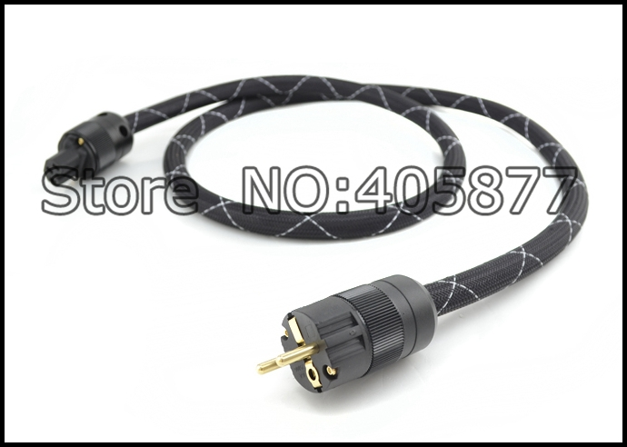 viborg audio Prism Helix 8 SA OF 8N Copper SCHUKO Power Cable GoldplatedEURpower plug cable hifi