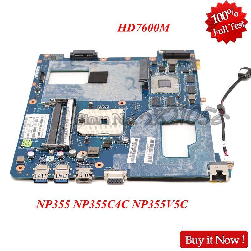 NOKOTION For Samsung NP355 NP355C4C NP355V5C Laptop Motherboard QMLE4 LA-8863P BA59-03568A HD7600M Video Card