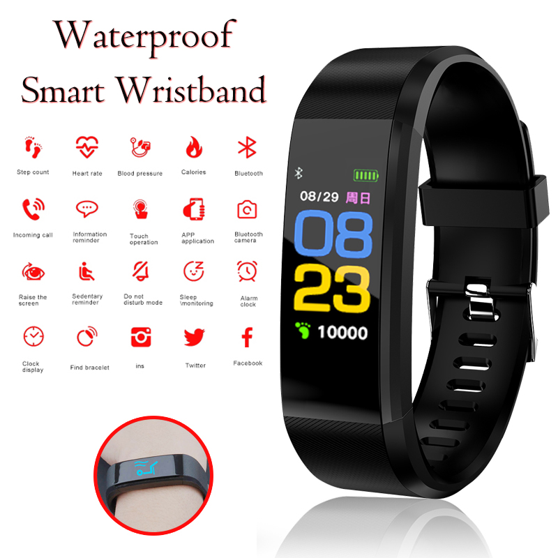 NEW 115plus Smart Bracelet Sport Smart Watch Men Women Heart Rate Fitness Tracker Smart Wristbands For Android IOS Connect WatchNEW 115plus Smart Bracelet Sport Smart Watch Men Women Heart Rate Fitness Tracker Smart Wristbands For Android IOS Connect Watch