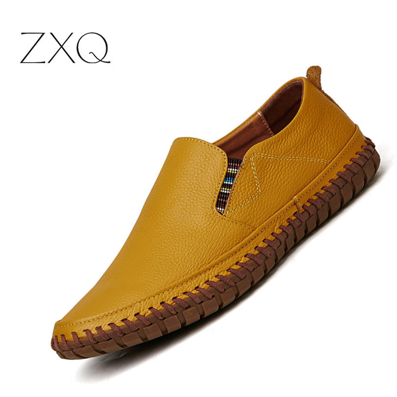 Pl;us Size 38-47 Handmade Genuine Leather Mens Shoes Casual Men Loafers Fashion Breathable Driving Shoes Slip On Moccasins pl us size 38 47 handmade genuine leather mens shoes casual men loafers fashion breathable driving shoes slip on moccasins