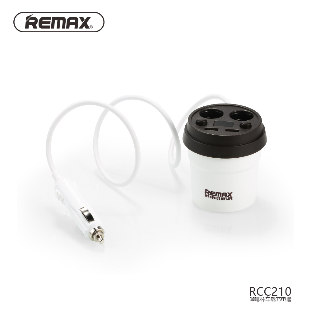 Original Remax Micro Usb Otg Plug For Android Mobile To Extend Car Charger 3 Output Saver 36a White 31a Coffee Cup Smart Cigarette Lighter Adapter Led Display Port