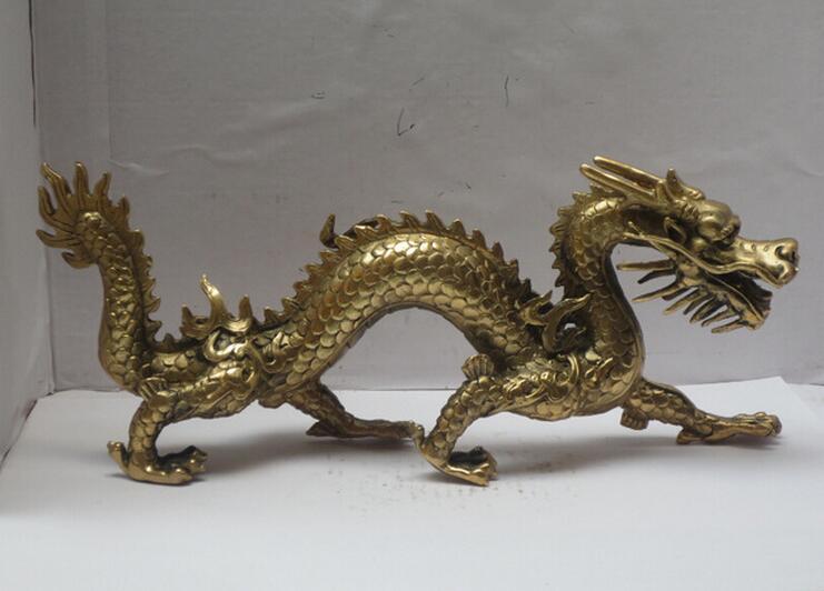 Statue d'artisanat sculpté Statue Dragon/Dragon animal en laiton statue de dragon