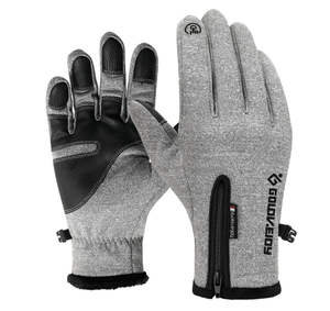 Glove iPad for Mobile-Phone Motorcycle-Gloves Snowboard Fleece Adult Winter Kids Windproof