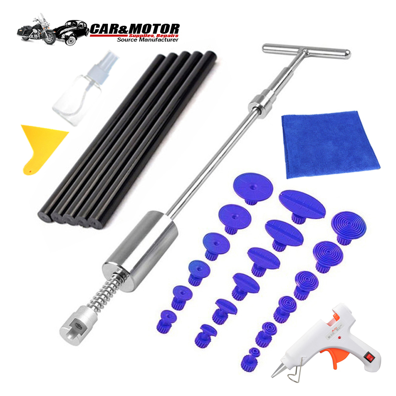 PDR Slide Hammer Car Body Dent Repair Tools Auto Tools Removal Reverse Hammer Paintless Dent Puller Glue Tabs For Hail Damage