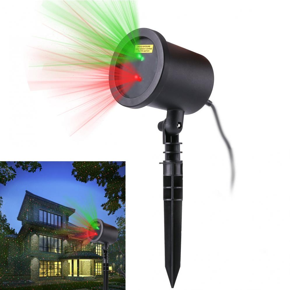 ФОТО Garden Tree Moving Laser Projector LED Stage Light Sparkling Landscape Lights for Outdoor Indoor Home Decorations New Arrival