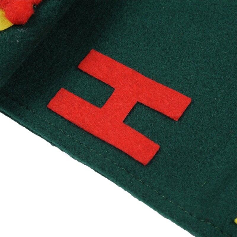 Санта Клаус Полотенца комплекты Обложки рождественские для отдыха и вечеринок Бумага сумки зеленый Полотенца S для домашнего декора падени...