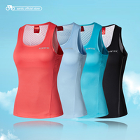 Santic Women Cycling Vest Sleeveless Cycle Reflective Vest Cool Tops Running Riding Sports Vest Ciclismo Santic N Feel High Tech