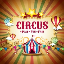 Laeacco Cartoon Circus Tent Hot Air Balloon Star Baby Photography Backgrounds Customized Photographic Backdrop For Photo Studio