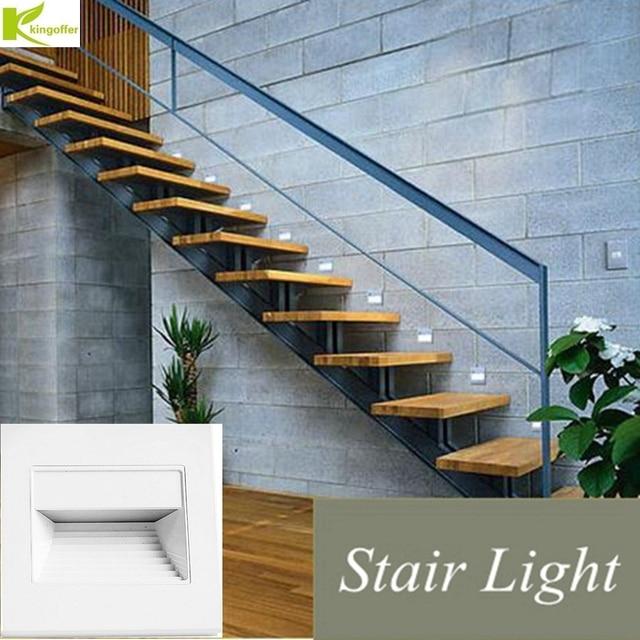 Kingoffer Lamp PIR Radar Induction Intelligent Sensor Led Stair 4 Color  Corner Steps Ladder Wall Lights