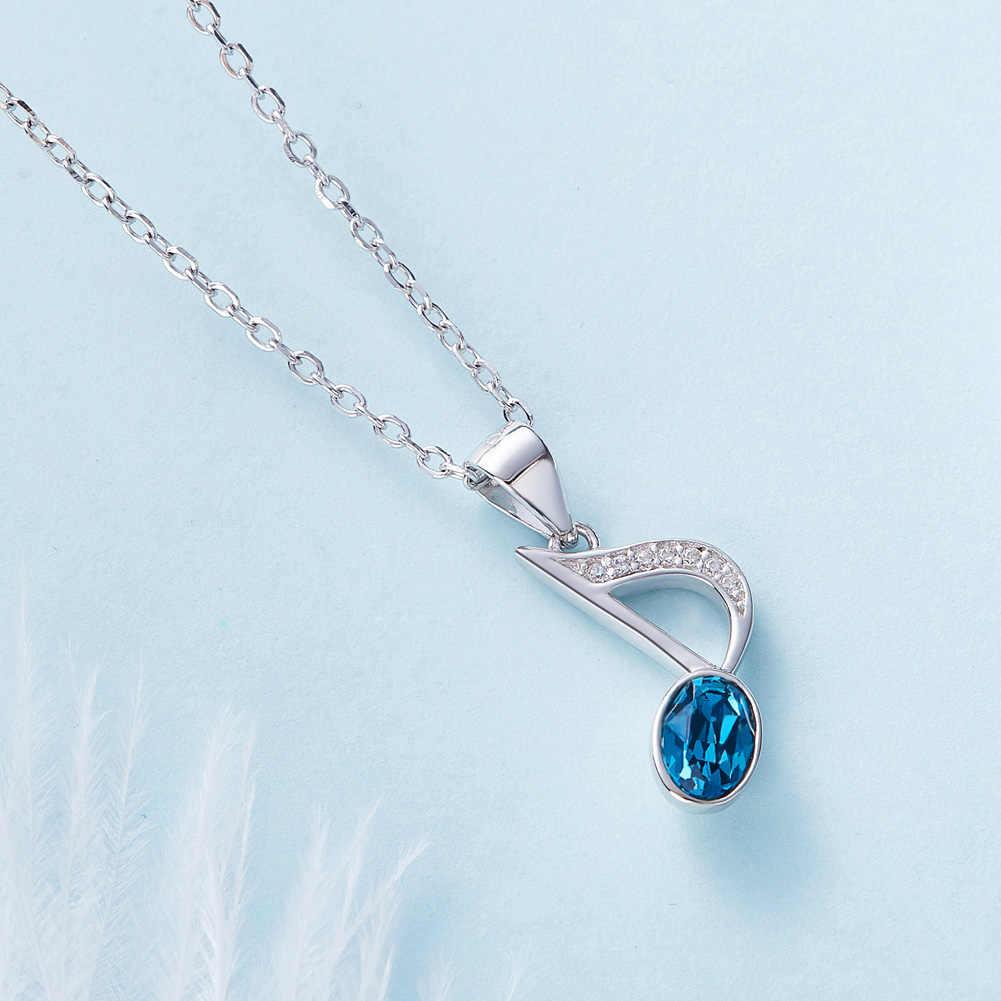 Heesen Элегантное синее ожерелье с подвеской в форме музыкальной ноты и модные подвески, ювелирные изделия шикарное эффектное Ожерелье Bijoux Подарки для женщин дропшиппинг