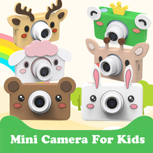 Детская камера, игрушки, 24 МП, HD, мини, мультипликационная цифровая камера, переключение языков, синхронизация съемки, распознавание лица, видеокамера, подарки на день рождения