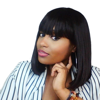 Burgundy Short Synthetic Wigs With Bangs For Women Black 14 inch Straight African American Heat Resistant Wigs