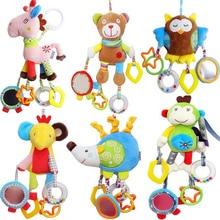 Újszülött kisfiú lány aranyos pamut csörgők csecsemő Állati bagoly medve majom Hand Bell Kids Plüss Játékfejlesztési Ajándékok 40% kedvezmény