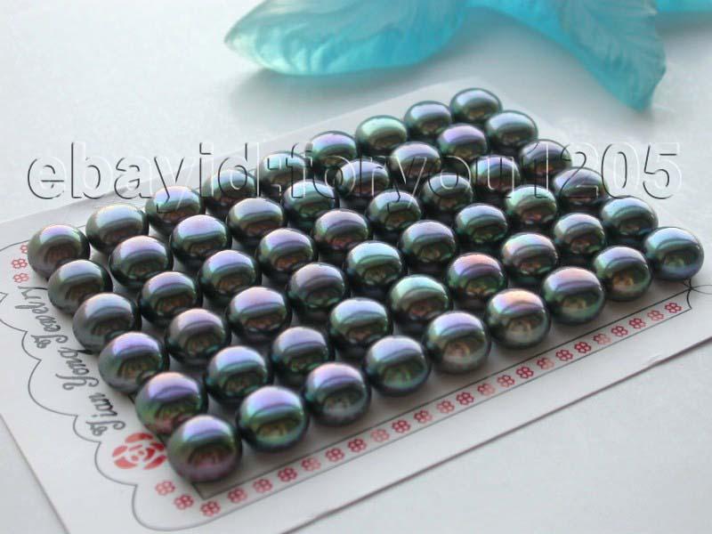 00-chaude dWholesale 27 paires Véritable Naturel 11mm Noir Perle Boucles D'oreilles! A0422