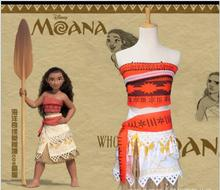 pamaba kids moana adventure costume girls dress summer clothes princess vaiana clothing set children birthday cosplay dress up Vaiana Moana Party Dress Cosplay Costume Kids Girls Fantasia Princess Moana Birthday Halloween Costume For Kids