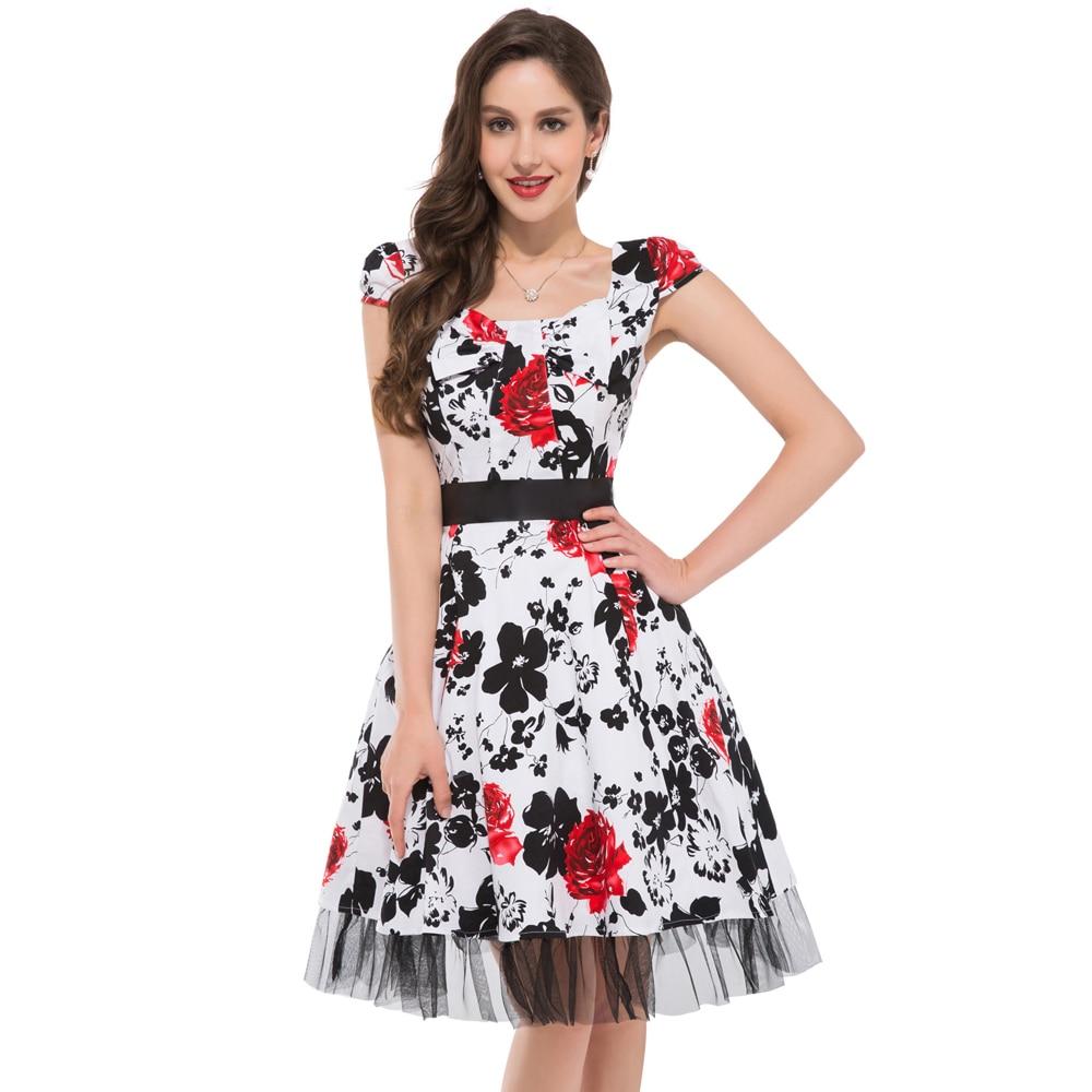 flower vintage style prom dress