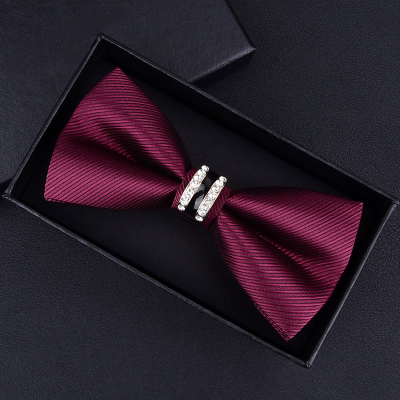 Butterfly Knot Metal Crystal Wedding Bow Tie