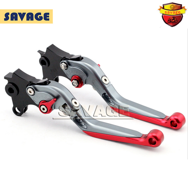 ФОТО For BMW R1200 GS 2013-2015 R1200GS ADC 2014-2015 Titanium+Red Motorcycle CNC Aluminum Folding Extendable Brake Clutch Levers
