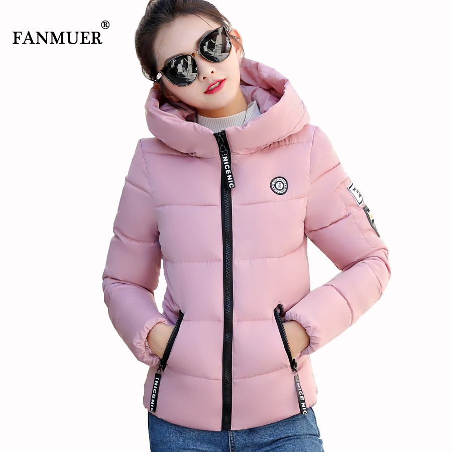 2017 Winter jacket  Hooded Jackets Women Thick Cotton Coat  Parkas Outerwear  Casual Wadded Jackets Plus Size Cotton Coats women winter long hooded cotton coat faux fur collar jackets plus size outerwear wadded thick casual parkas cotton coats pw1015