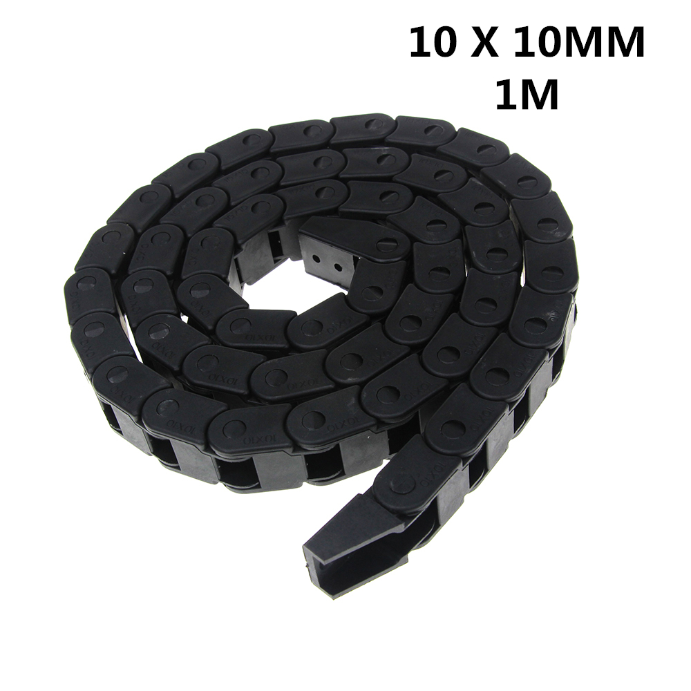 10 x 10mm L1000mm Cable Drag Chain Wire Carrier with End Connectors for CNC Router Machine Tools best price 25 x 57 mm l1000mm cable drag chain wire carrier with end connectors for cnc router machine tools