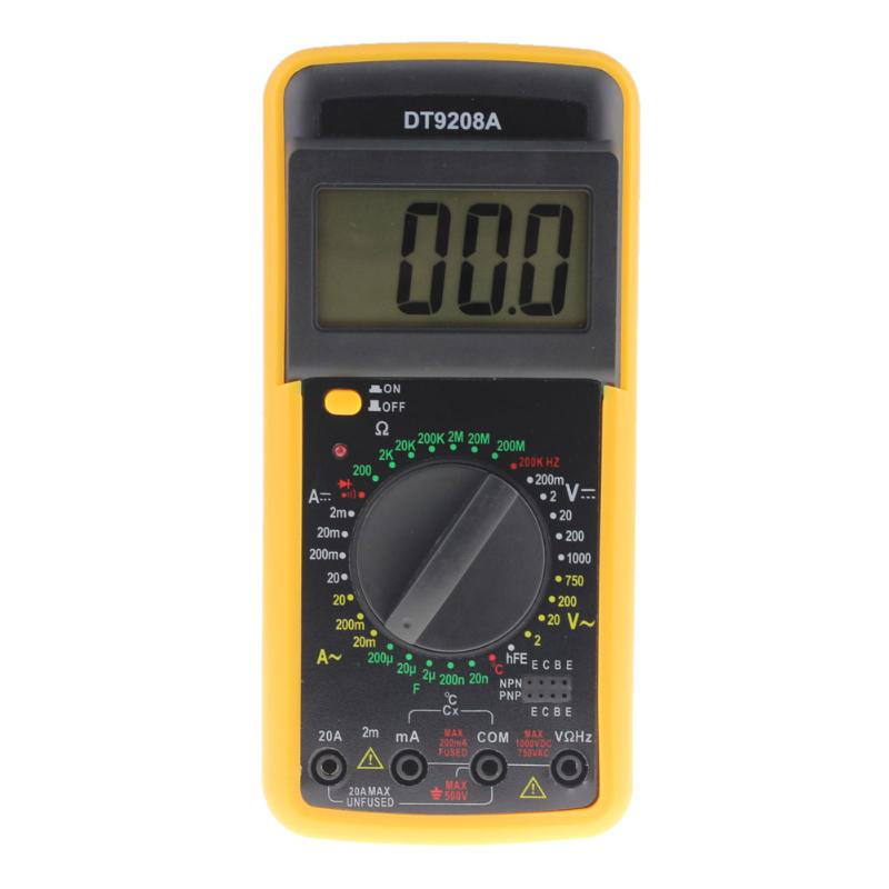 New Portable DT9208A 1999 Counts LCD Display Multimeter Electric Handheld AC/DC Resistance Capacitance Voltmeter Ammeter цены