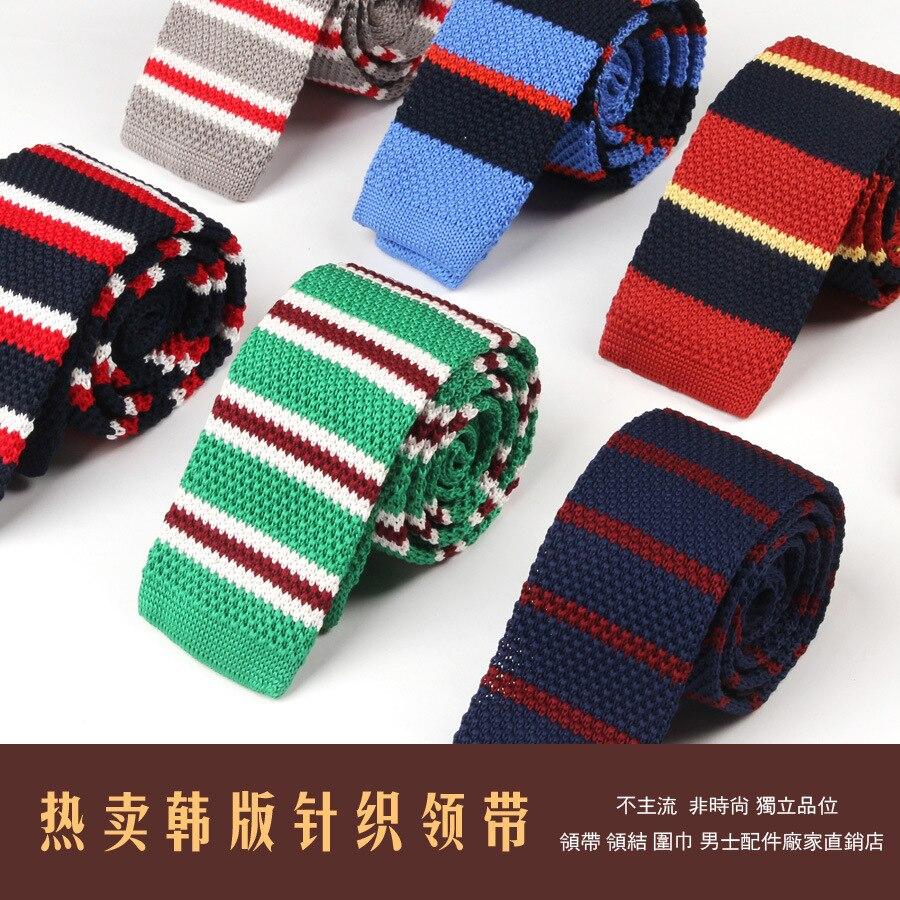add17748611e 2016 Nuovo Arrivo Cravatta in Maglia Versione Coreana Prevalente Moda Uomo  di Lavoro A Maglia Cravatte Skinny Marca Cravatta Stretta Gravatas Slim 5 cm