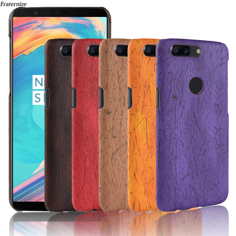 Oneplus 5T Cases Cover Wood Pattern Phone Case For OnePlus 5t 5 3 3T 2 1 Hard Leather Protective Back Cover For OnePlus One Two