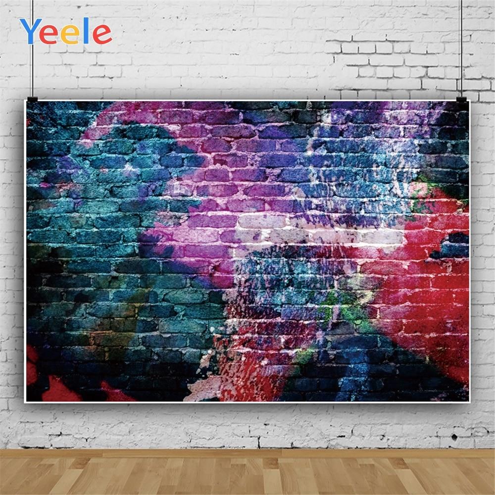 Yeele Grunge Graffiti Wall Interior Music Ballroom Personalized  Photographic Backdrops Photography Backgrounds For Photo Studio