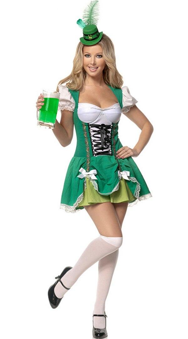Woman German Oktoberfest Beer Maid Costume Bavarian Beer Wench Fancy Dress