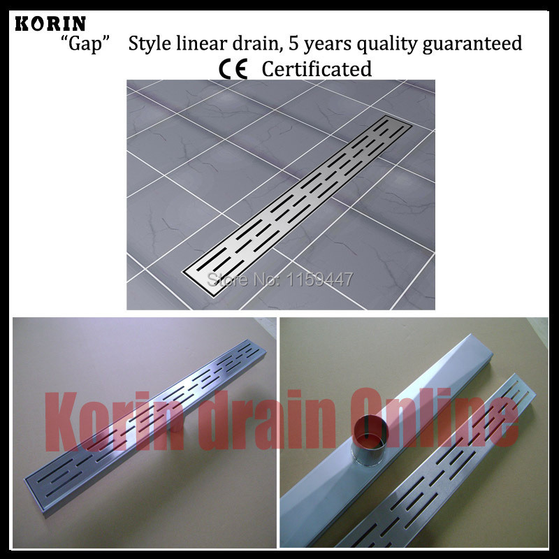 1200mm Line Style Stainless Steel 304 Linear Shower Drain, Vertical Drain, Floor Waste, Long floor drain, Shower channel orient sz3r002b