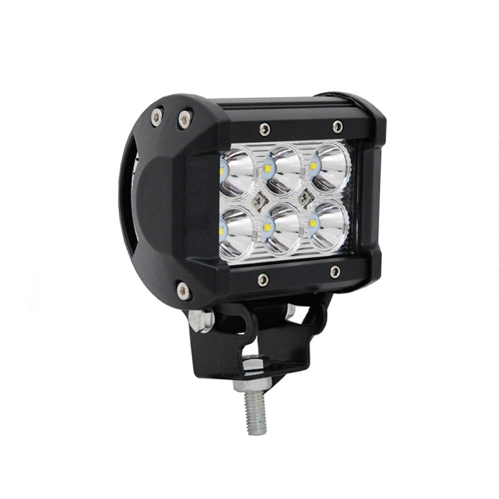 ECAHAYAKU 1pcs 4inch 12V 18W led work light bar offroad driving car 4x4 LED tractor truck lights Led fog worklight lamp