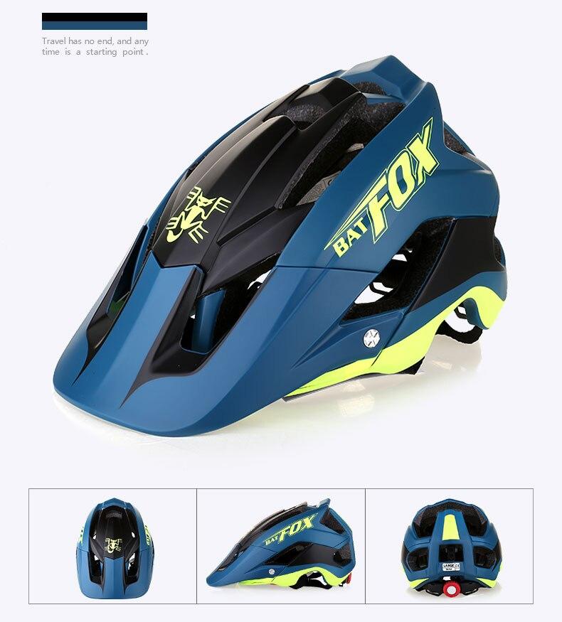 de bicicleta casco ciclismo 7 cores bat raposa dh am