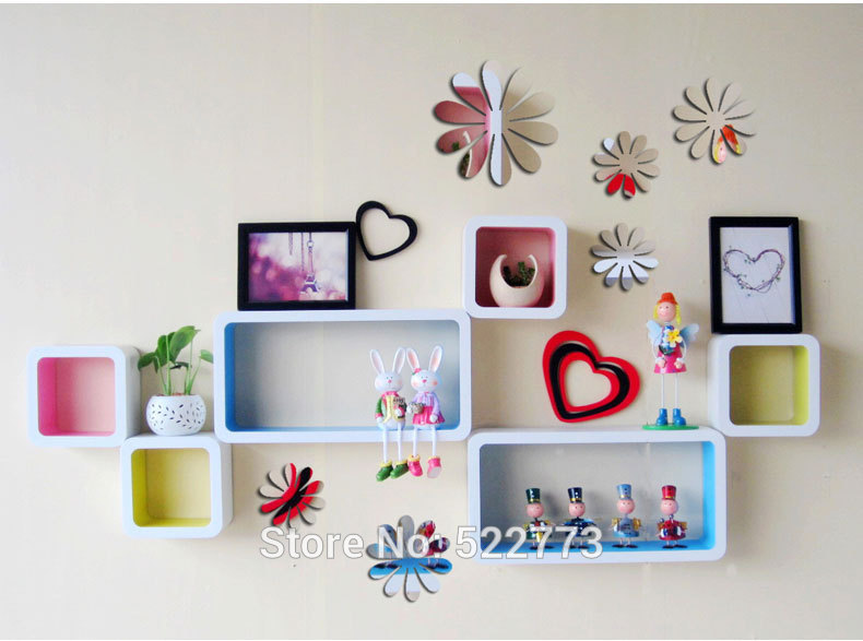 New 12pcs Lot Vinyl Flower 3d Wall Stickers For Kids Room Fashion Diy Christmas Window Decoration Wall Decals Vintage Home Decor