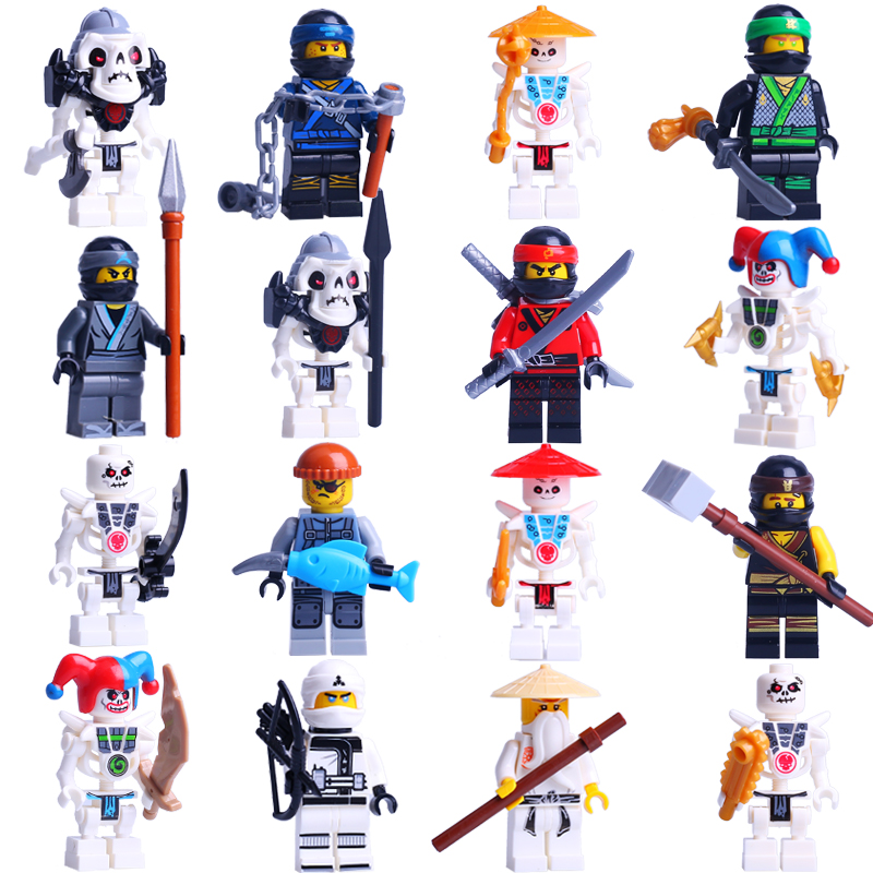 Compatible with Legoinglys Kids Characters Arms Heroes Kai Jie Cole Zane Nai Lloyd Weapon Action Halloween Toys Gifts 16PCS 8pcs s compatible legoings ninjagoes with weapon ninja kai cole jay zane lloyd nya building blocks kids toys gifts for children