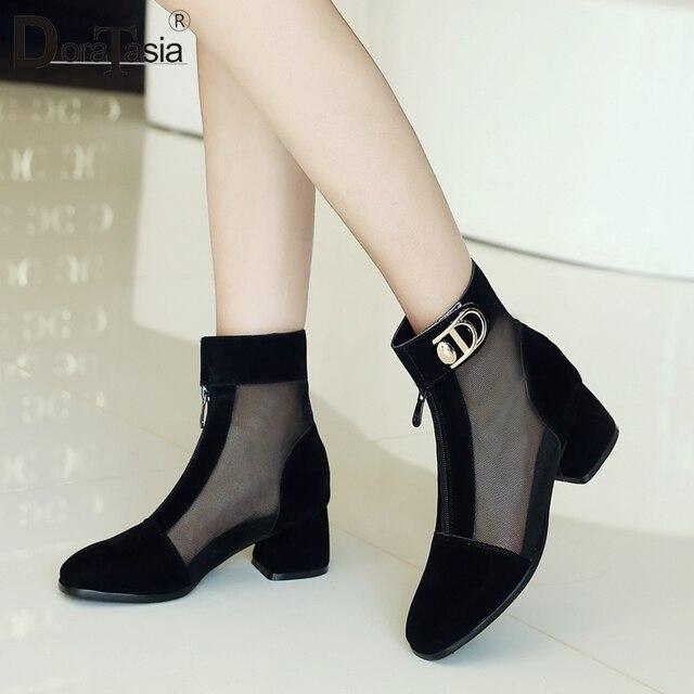 DORATASIA nowa moda 2019 hurtownie duży rozmiar 33-43 wysokie wysokiej jakości buty kobieta buty kobieta kwadratowe obcasy letnie buty kobieta