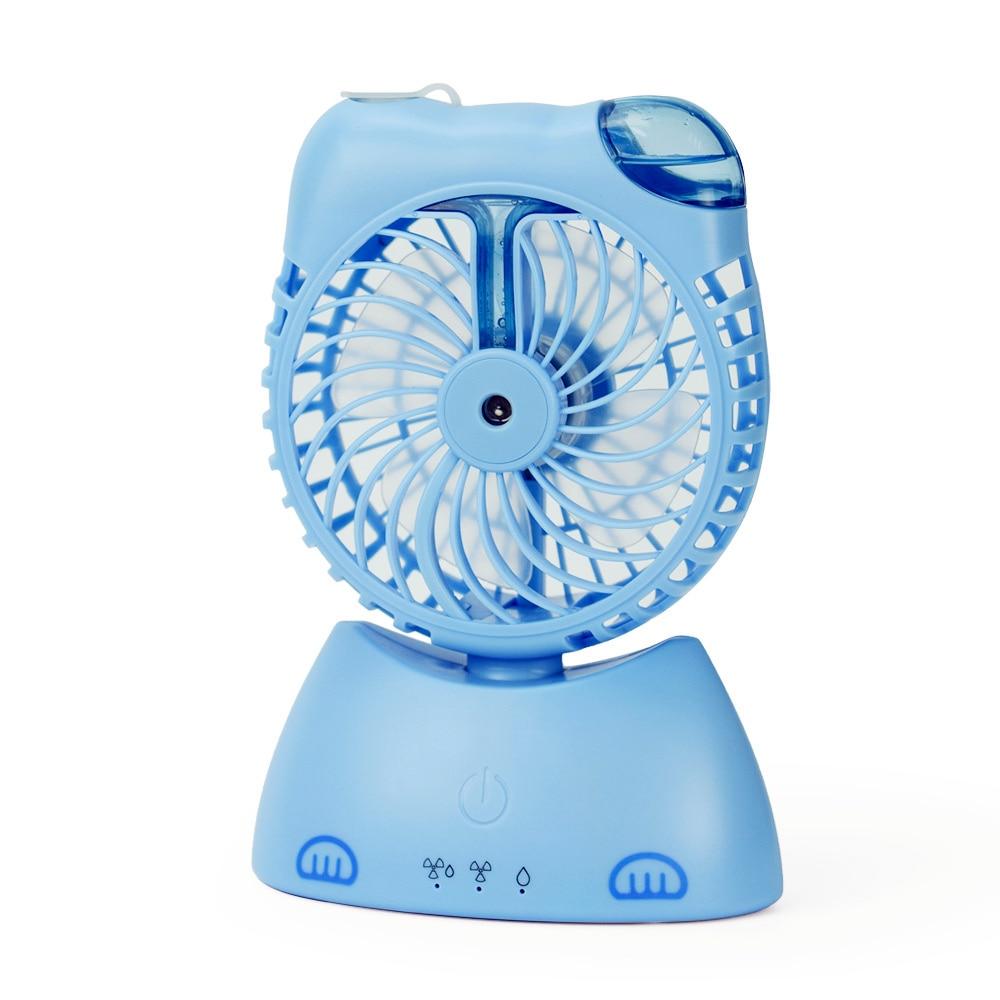 USB fan flexible portable mini fan Desktop Cooling rechargeable spray fan humidifier new mini cooling rechargeable fan