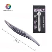 Beautyblend Brand C 8009 Makeup Tools Willow Shaped Eyebrow Clip Stainless Steel Eyebrow Tweezers