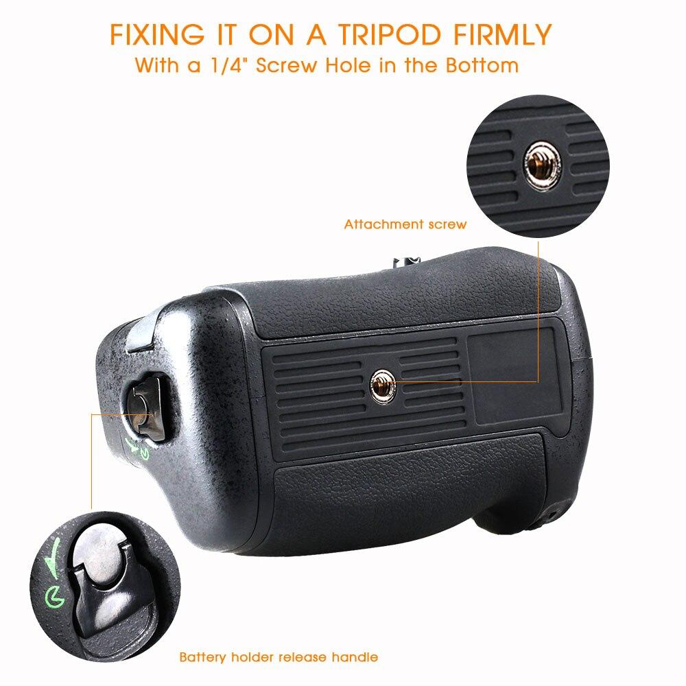Travor verticale batterie support de prise en main pour Nikon D750 DSLR Caméra avec EN-EL15 batterie comme MB-D16 - 5