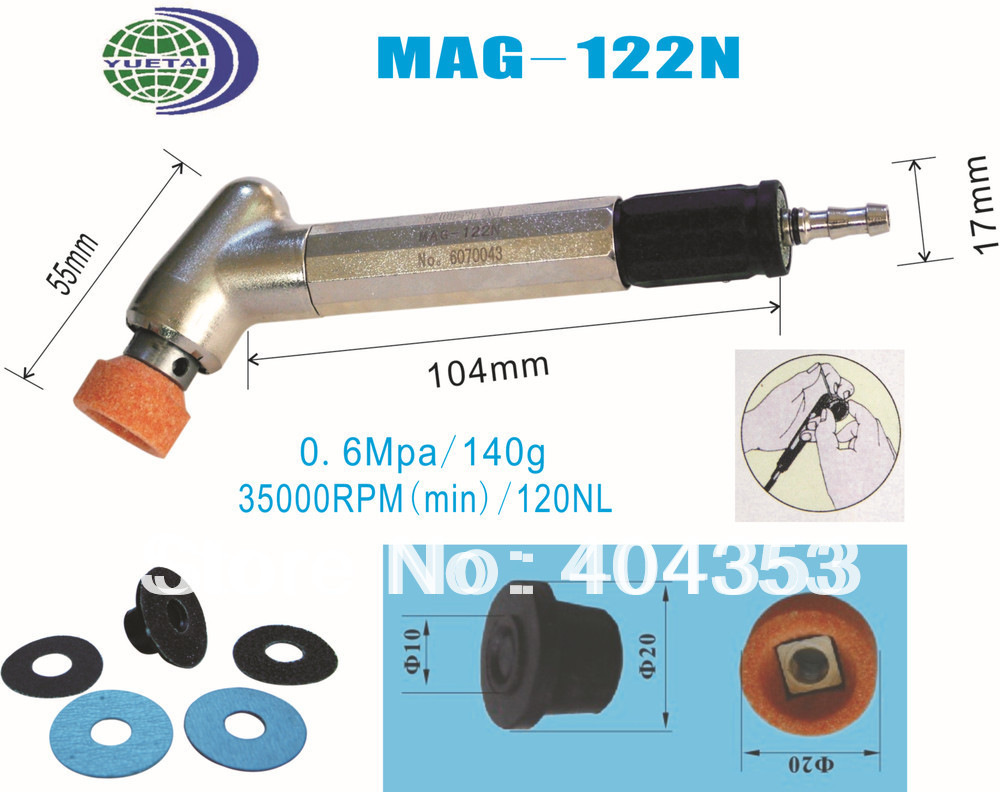 Mirco Air Grinder (MAG-122N)  35,000RPM  Collet Size: 20mm  0.6MPa 140g mirco air grinder mag 122n 35 000rpm collet size 20mm 0 6mpa 140g