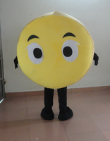 Adorable Yellow Cookie Mascot Costume Cracker Biscuit Cookie Butter With White Cream Big Round Body