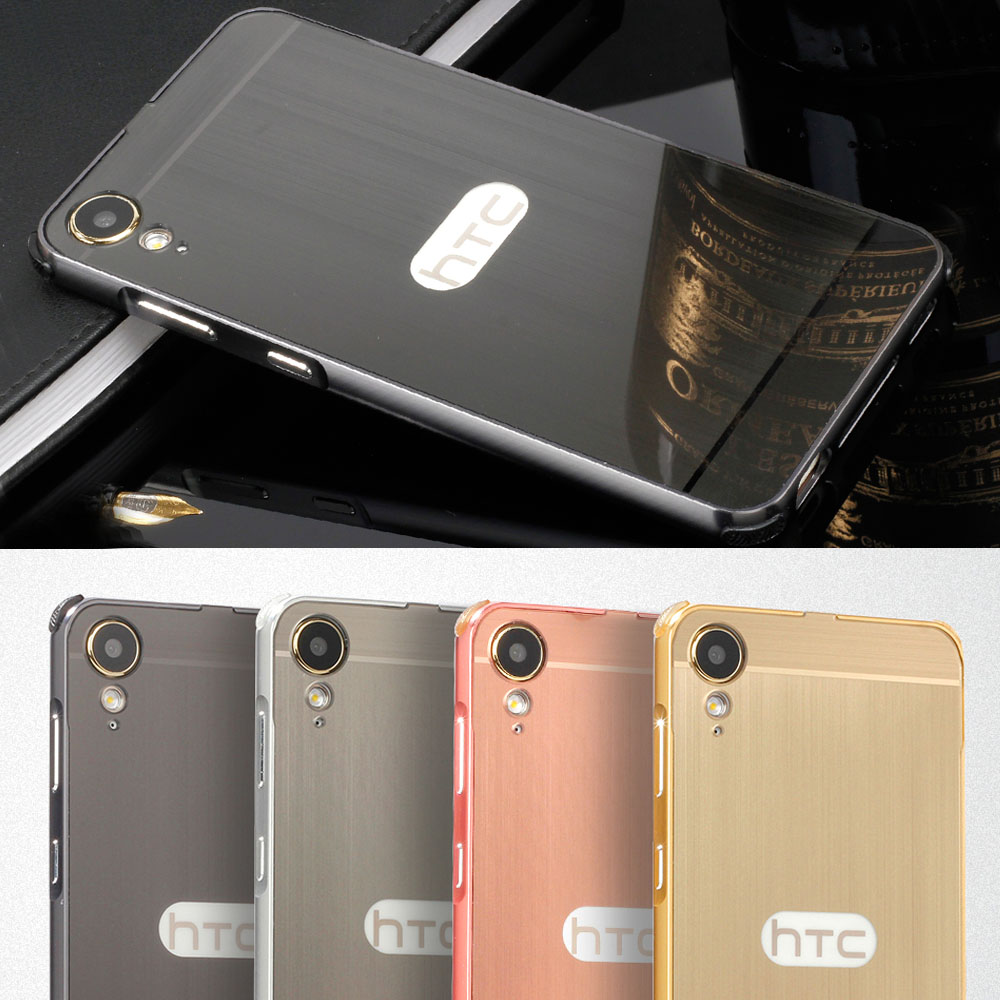 Originele metalen aluminium frame geborsteld PC back case voor HTC Desire 10 Lifestyle 5.5 ''telefoon cover anti-klop tas Geregistreerde Mail