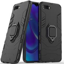 For Oppo K1 Case Cover Silicone Tpu And Hard Pc Ultra Luxury Armor Metal Ring Holder