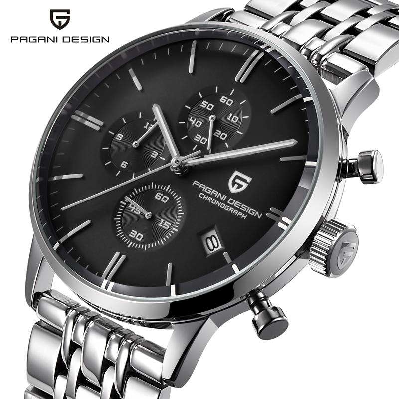 Relogio Masculino PAGANI Mens Watches Top Brand Luxury Sport Quartz Watch Men Business Stainless Steel Waterproof Wristwatch weide popular brand new fashion digital led watch men waterproof sport watches man white dial stainless steel relogio masculino