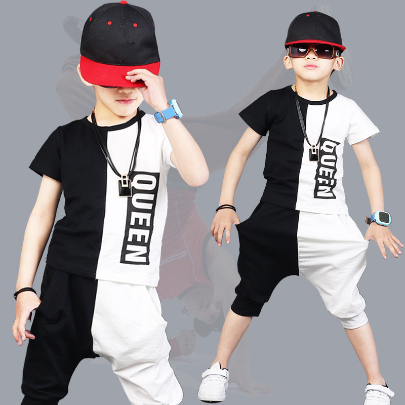 Childrens clothing sets Garment Summer baby boy Outfits New Pattern Fashion Boy clothes Short Sleeve 2 Pieces kids Sports Suit