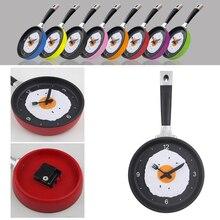 Lovely Design Fried Pan Clock Plastic Kitchen Wall Clock for Home Decoration Quartz Time Clocks Horloge Murale