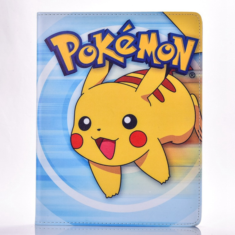 Case for Apple ipad mini 3 2 1 Pokemon Go cute Pikachu tablet PU leather Cover Flip stand shell coque para in Tablets e Books Case from Computer Office