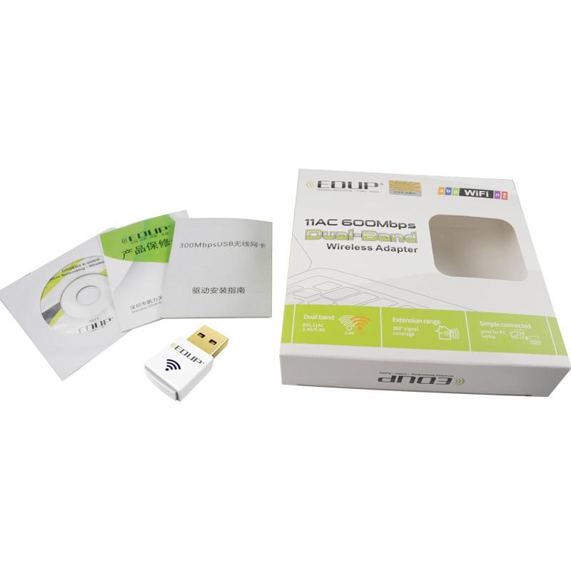 Dual-Band 2.4G / 5G 600 Mbps 802.11AC USB Draadloze WiFi Adapter - Netwerkapparatuur - Foto 5